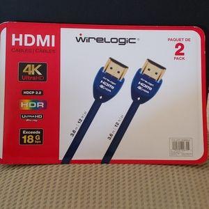 HDMI 2 pk cables